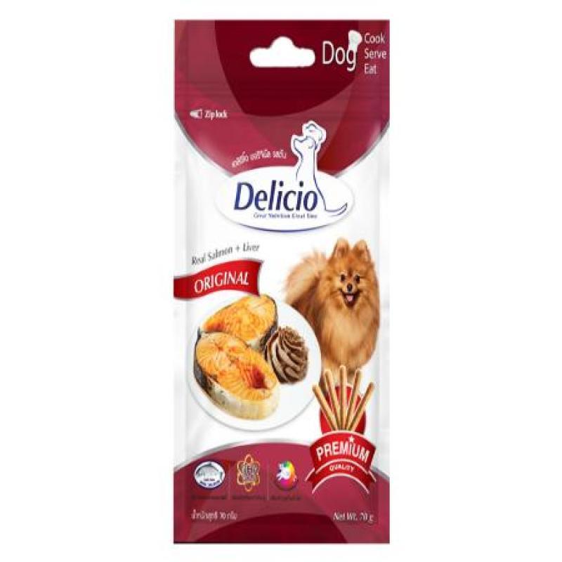 Thức ăn cho chó - Delicio Real Salmon & Liver 70g GD9