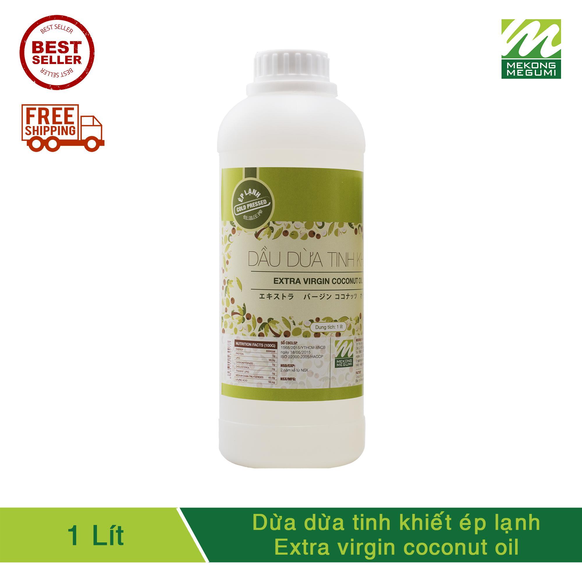 DẦU DỪA TINH KHIẾT ÉP LẠNH MEKÔNG MEGUMI (Extra Virgin Coconut Oil) _ 1 LÍT tốt nhất