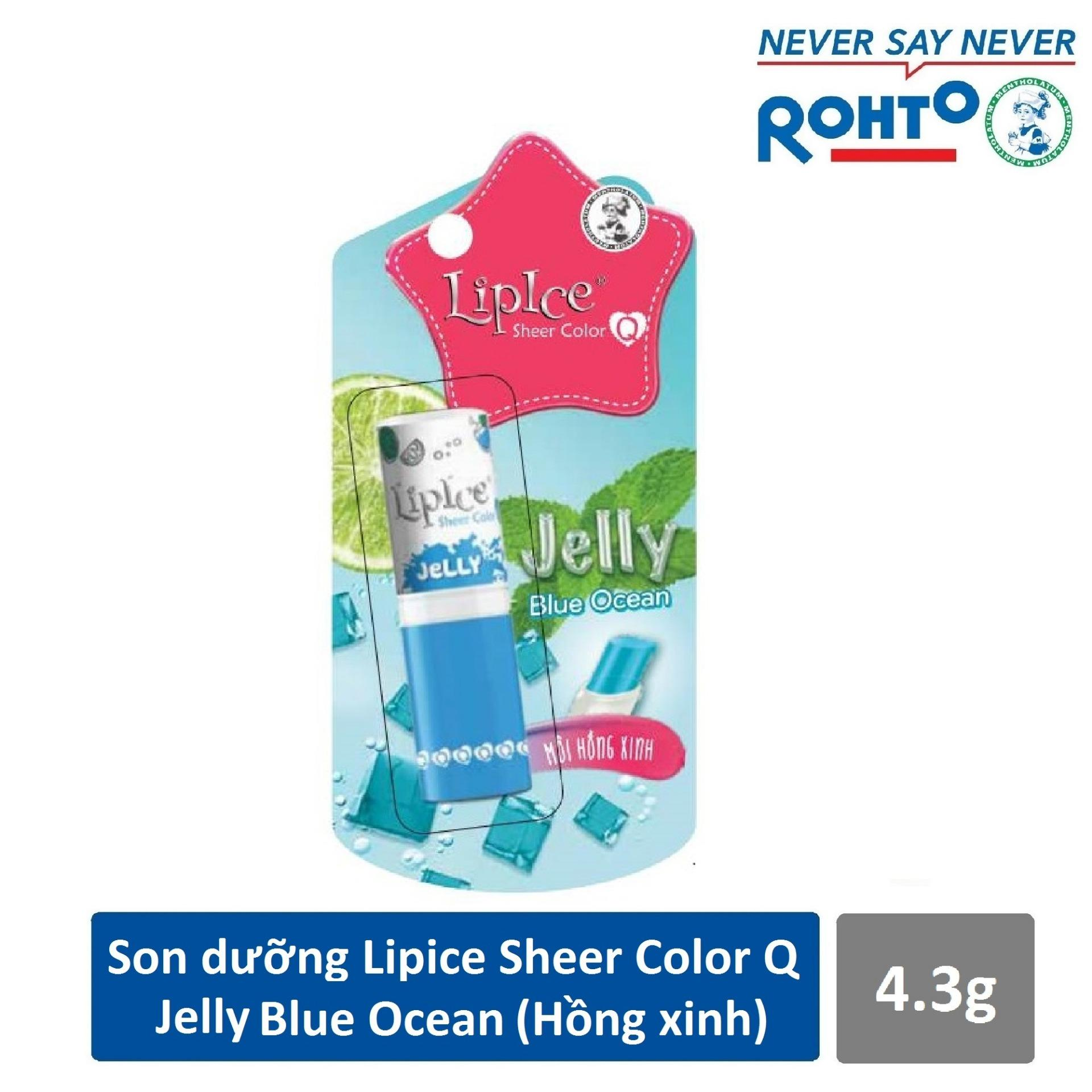 Son dưỡng LipIce Sheer Color Q Jelly Blue Ocean 4.3g (Hồng xinh)