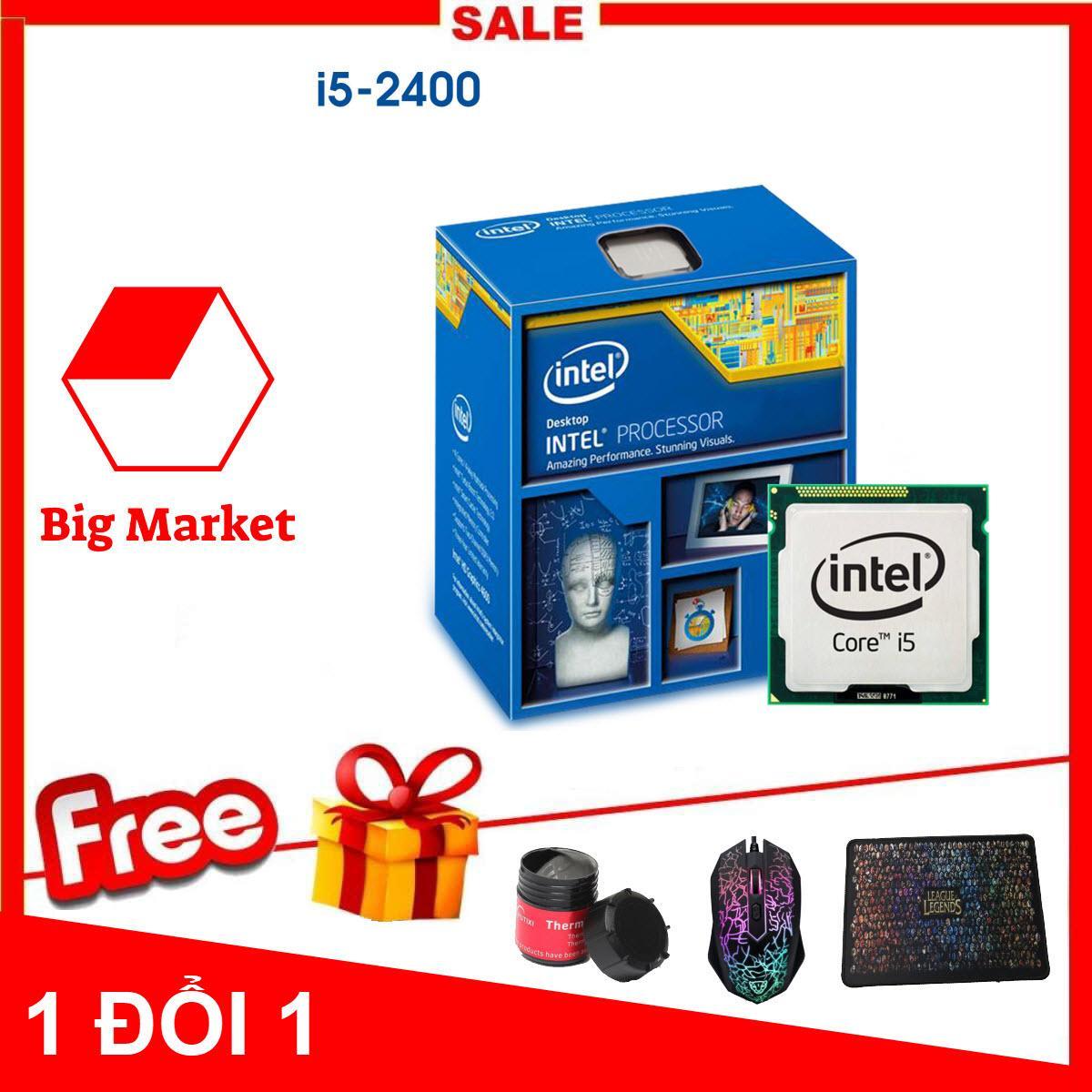 Bộ vi xử lý Intel Core I5 2400 (4 lõi - 4 luồng) + Bộ Quà Tặng - Hàng Nhập Khẩu