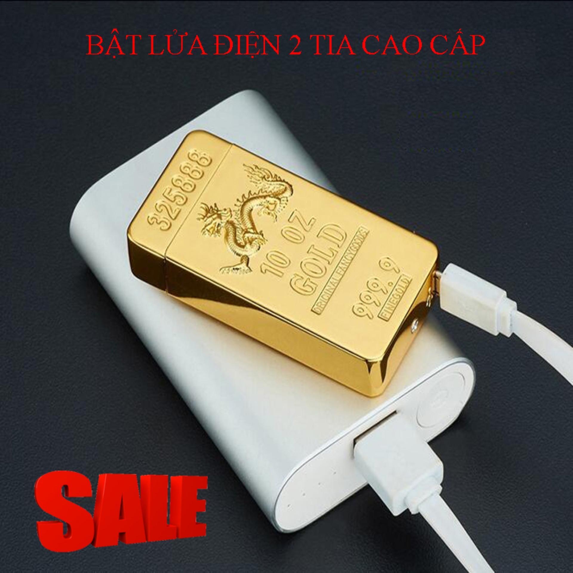 Hình ảnh Hướng Dẫn Bơm Gas Hộp Quẹt, Lam Bat Lua Dien - Mua Ngay Bật Lửa Điện 2 Tia Gold 325888 Cổng Usb, Chất Liệu Hợp Kim Chống Gỉ, Thiết Kế Độc Đáo