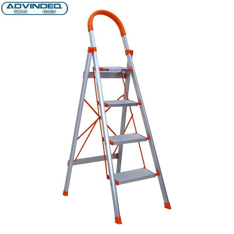 Thang nhôm ghế 4 bậc bản to xếp gọn ADVINDEQ ADS704