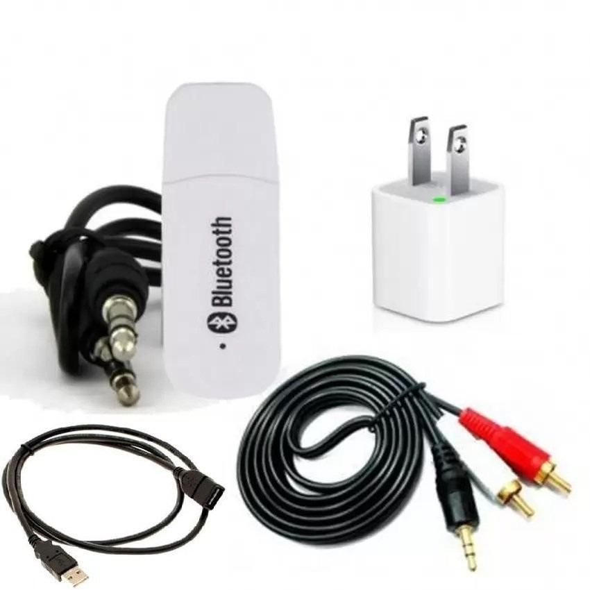 Hình ảnh Bộ USB Bluetooth Wireless DMZMusic Receiver tạo kết nối bluetooth cho amply và loa + Tặng cáp USB nối dài