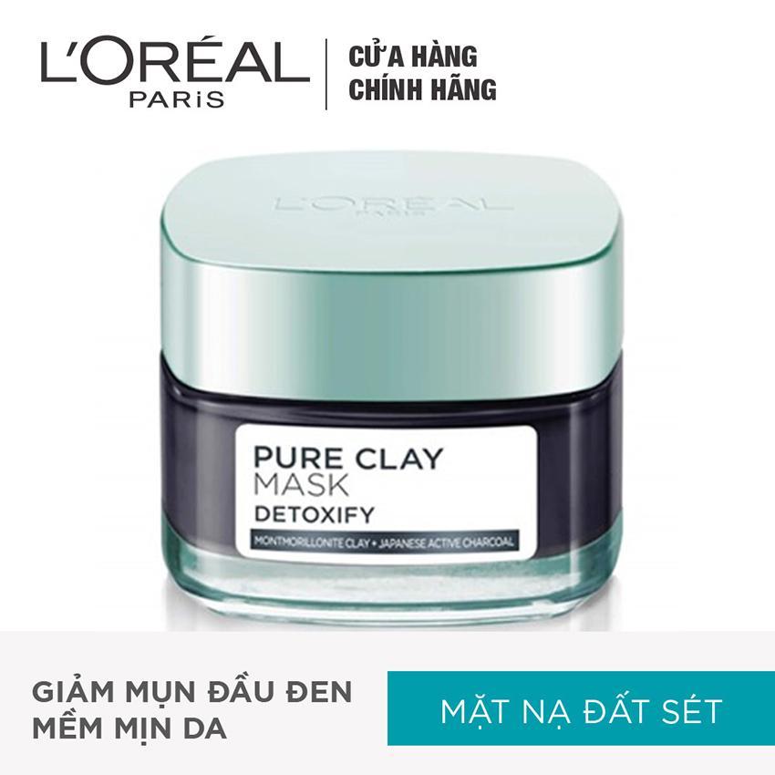Bán Mặt Nạ Đất Set Thanh Lọc Giảm Mụn Đầu Đen L Oreal Paris Pure Clay Mask Detoxify Rẻ