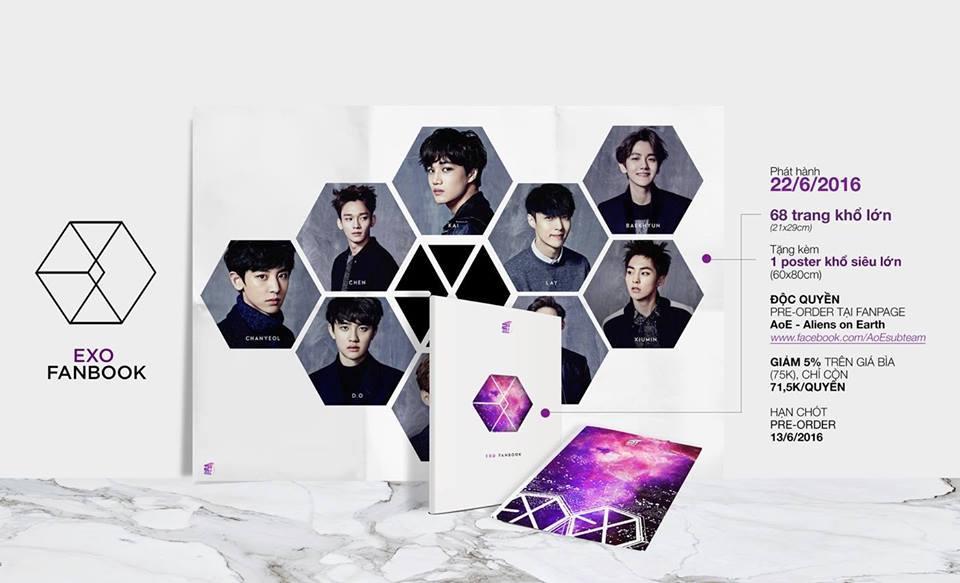 Mua EXO fanbook tái bản 2017 - tặng kèm poster