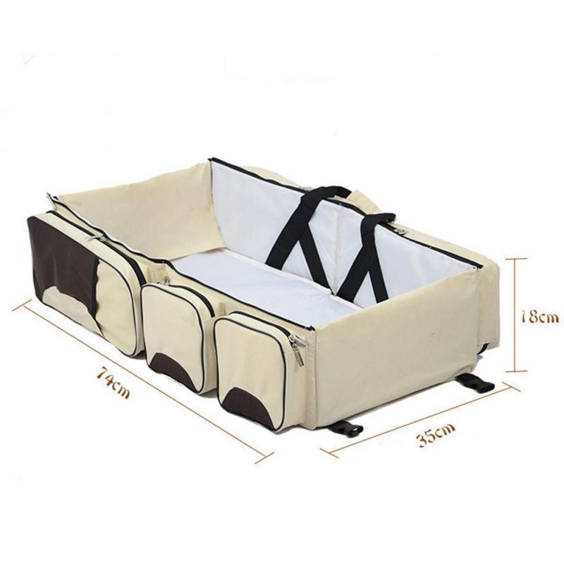 Giường Nôi xách tay kiêm túi đựng đồ đa năng cho bé/Túi Ngủ Cho Bé Sơ Sinh Khi Đi Du Lịch 2 in 1 - Chăm sóc bé trong giấc ngủ