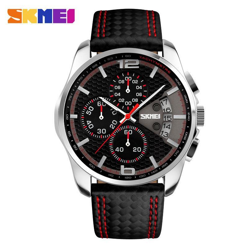 Đồng hồ nam SKMEI kiểu dáng thể thao dây da đẹp mắt thu hút JS-9106 bán chạy