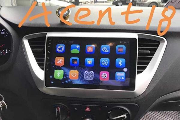 [Trả góp 0%] Màn Hình Androi 9 inchs Xe Hyundai Accent 2018 2019 2020 màn cường lực cảm ứng kết nối sim 4G phát wifi tốc độ cao điều khiển giọng nói cấu hình Ram 2G. bộ nhớ trong 32G bảo hành 12 tháng