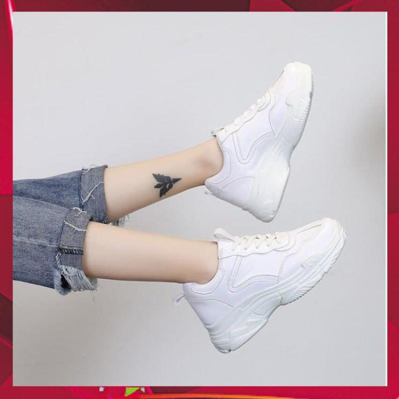 Siêu phẩm giày thể thao nữ giày Sneaker nữ Hàn Quốc Full trắng CPD