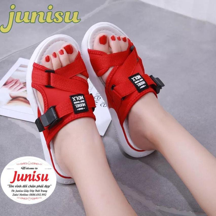 [Junisu] Sandal Quai Vải Đế Cao Êm Chân 2020 ( 3 Màu) giá rẻ