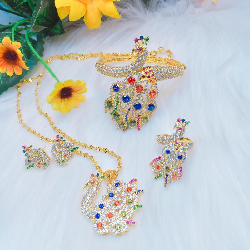 Bộ Trang Sức Nữ Vàng Công Hoàng Kim Gadoshop VB4140801 - Đeo đi tiệc cực đẹp cực sang trọng giá rẻ