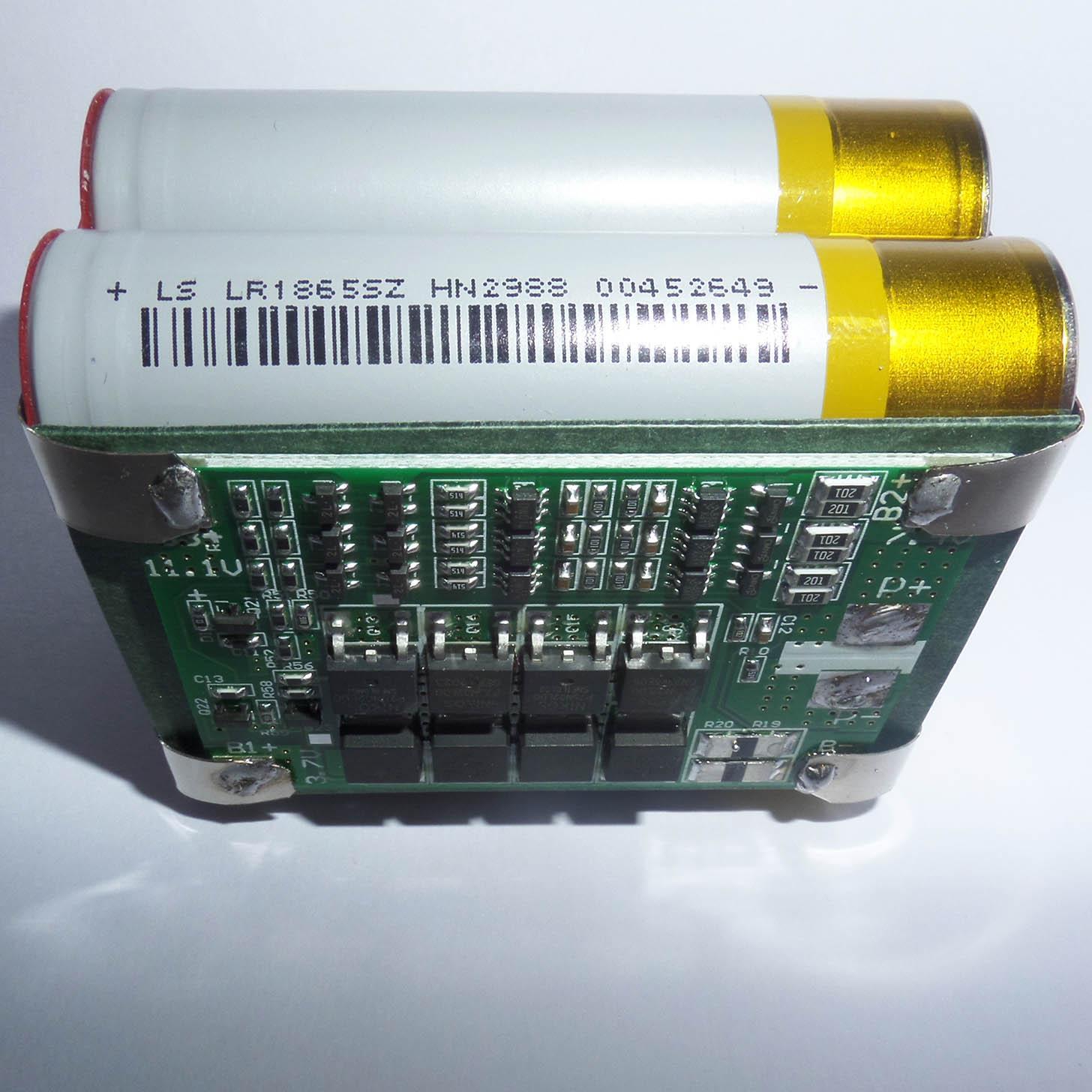 Hình ảnh Pack PIN NATIONAL LiShen 3S2P dung lượng 5AH - Dòng xả 25A - Mạch bảo vệ và sạc cân bằng