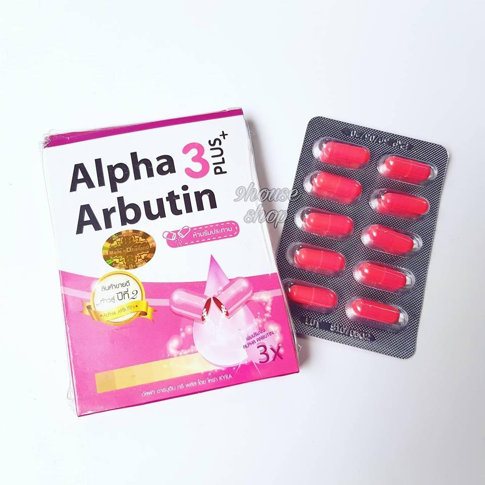 Viên kích trắng Alpha Arbutin Plus 3+ dành cho body (1 vĩ 10 viên)