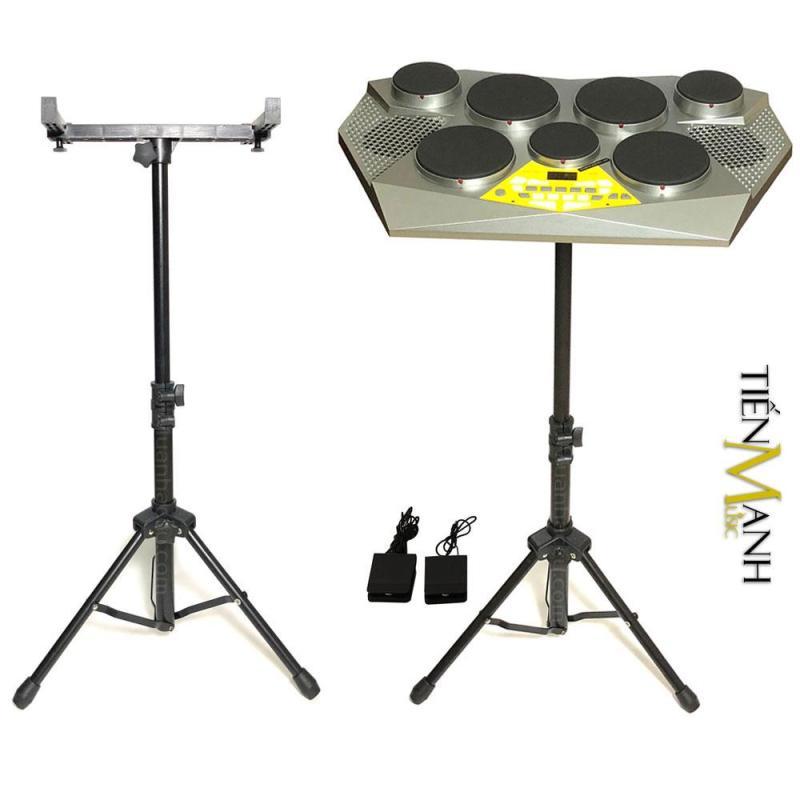 Combo Trống điện tử Medeli DD309 và Chân để Trống - Hãng phân phối chính thức (Electronic Portable Digital Drum and Stand Bracket - Kèm Nguồn, Dùi Trống, Pedal, Chân loại lớn)