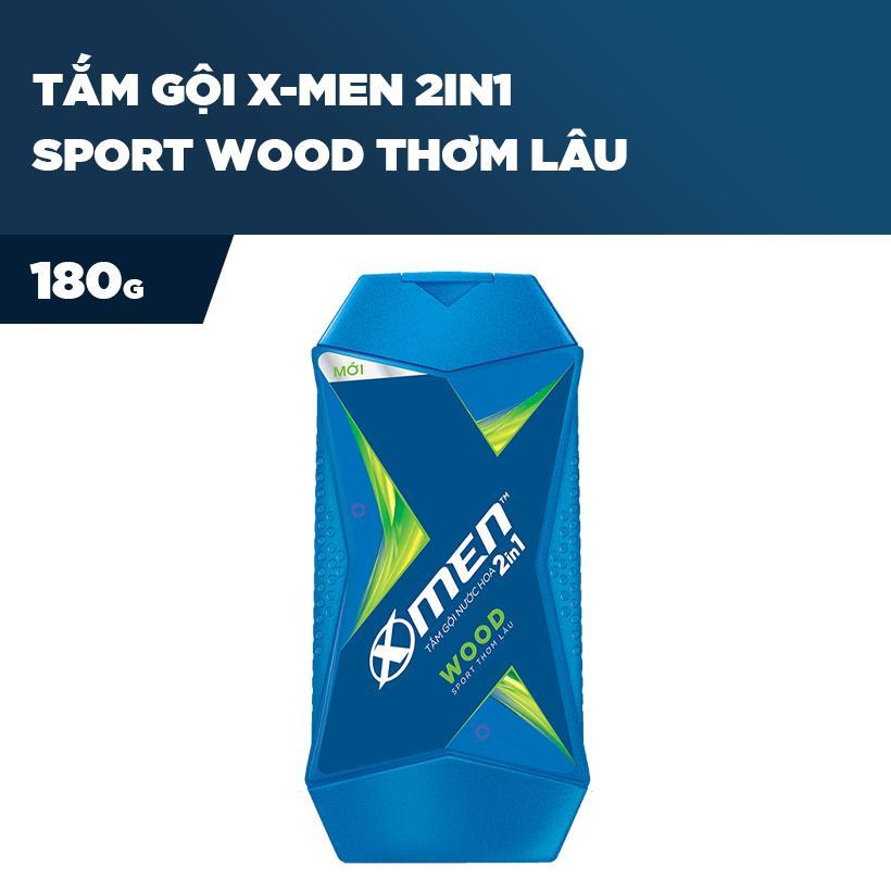 Tắm gội X-Men 2in1 Sport Wood - Thơm lâu 180g tốt nhất