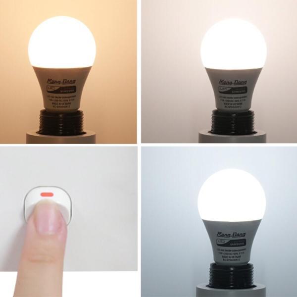 Bóng đèn led tròn đổi màu 7W Rạng Đông A60 ĐM/7W