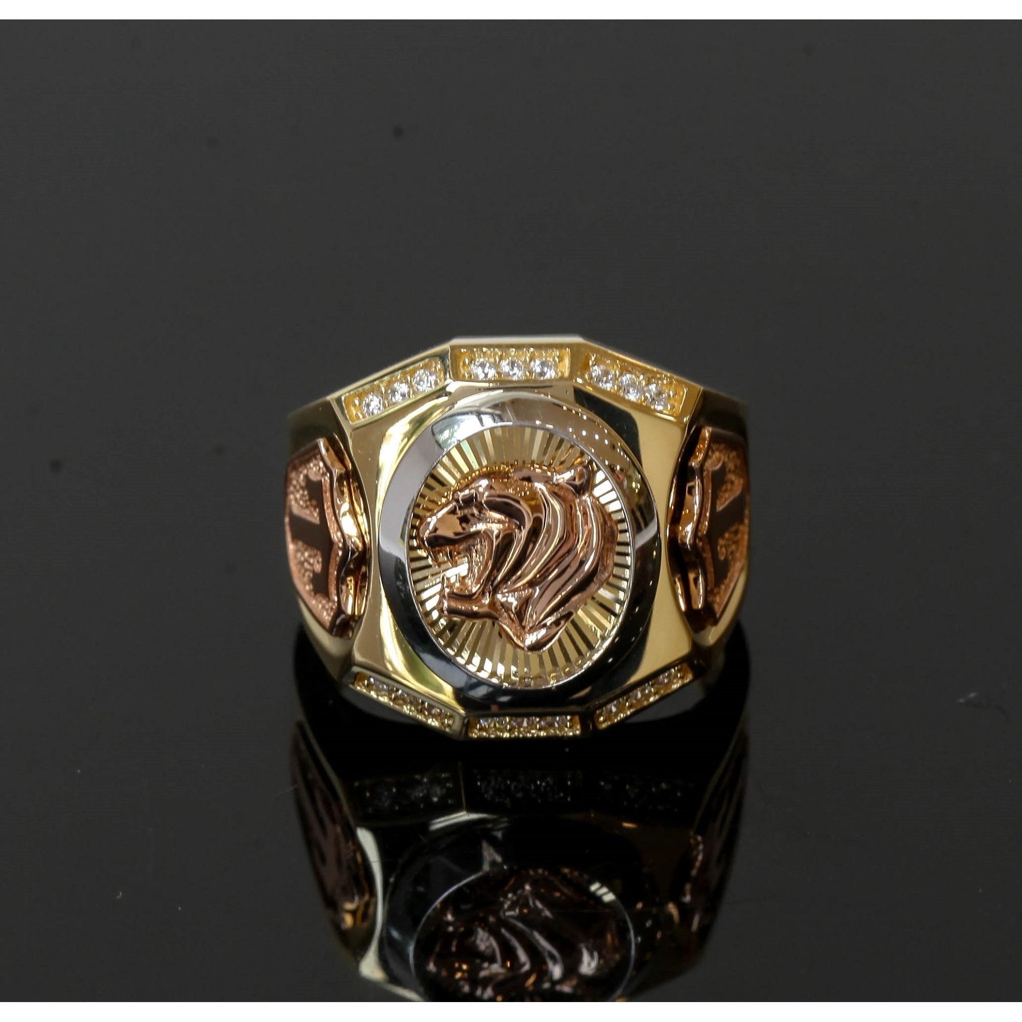 Nhẫn nam Versace vàng K18 GRG80019