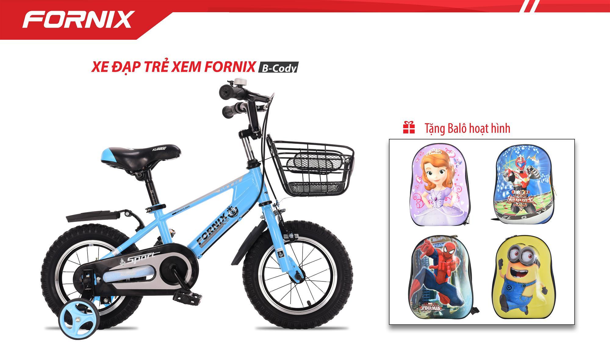 Xe đạp trẻ em vòng bánh 12 B-Cody + tặng ba lô hoạt hình