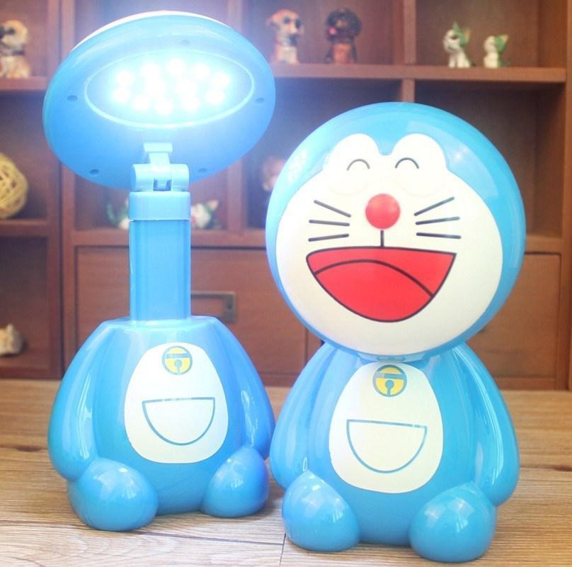 Đèn Led để bàn chống cận hình Doraemon cho bé (Xanh)