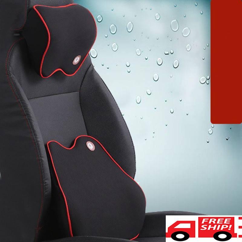 Bộ gối tựa đầu và tựa lưng xe hơi, ô tô chất liệu cao su non hoạt tính cao cấp