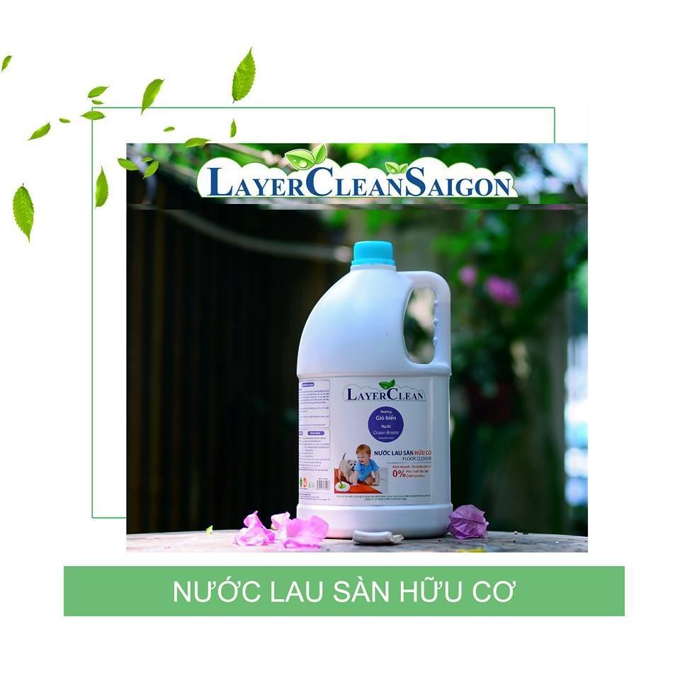 Hình ảnh Nước lau sàn Layer Clean, can 5L - Hương Ocean Breeze