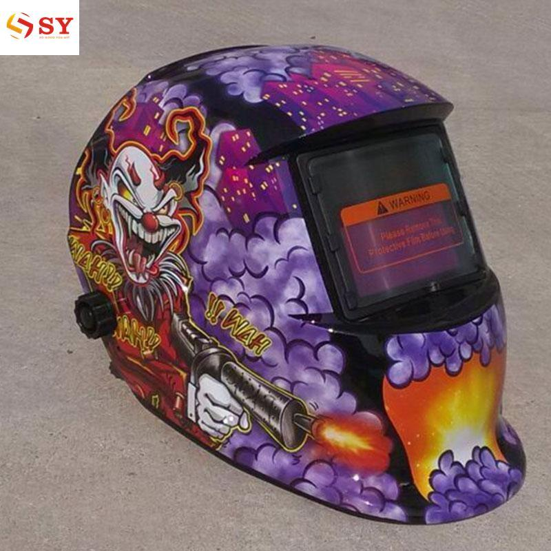 So Young Solar Power Auto Darkening Welding Welder Grinding Helmet Mask Hood Protector - intl