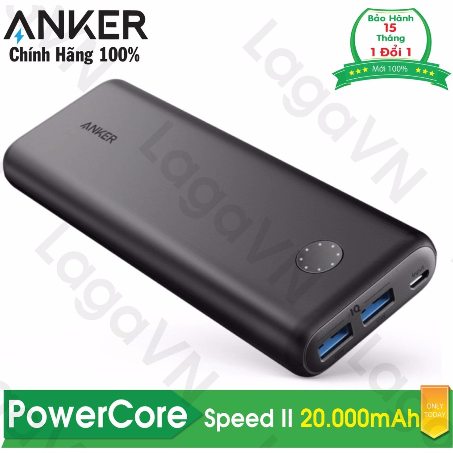 Hình ảnh Pin sạc dự phòng ANKER PowerCore Speed II 20000mAh - A1260 - Hãng phân phối chính thức