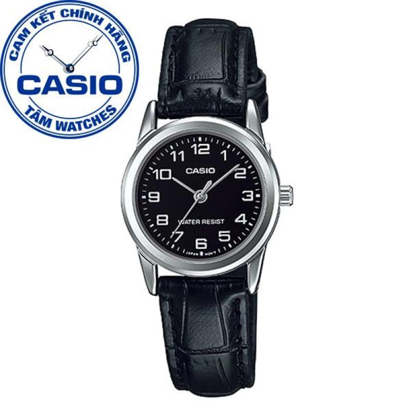 Đồng hồ nữ dây da Casio Standard Anh Khuê LTP-V001L-1BUDF