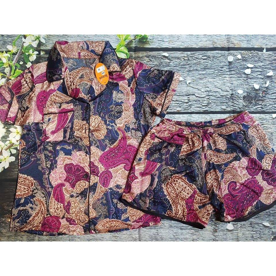 Giá Bán Pijama Satin Lụa Họa Tiết Cao Cấp Size 55 65Kg Trực Tuyến Hồ Chí Minh