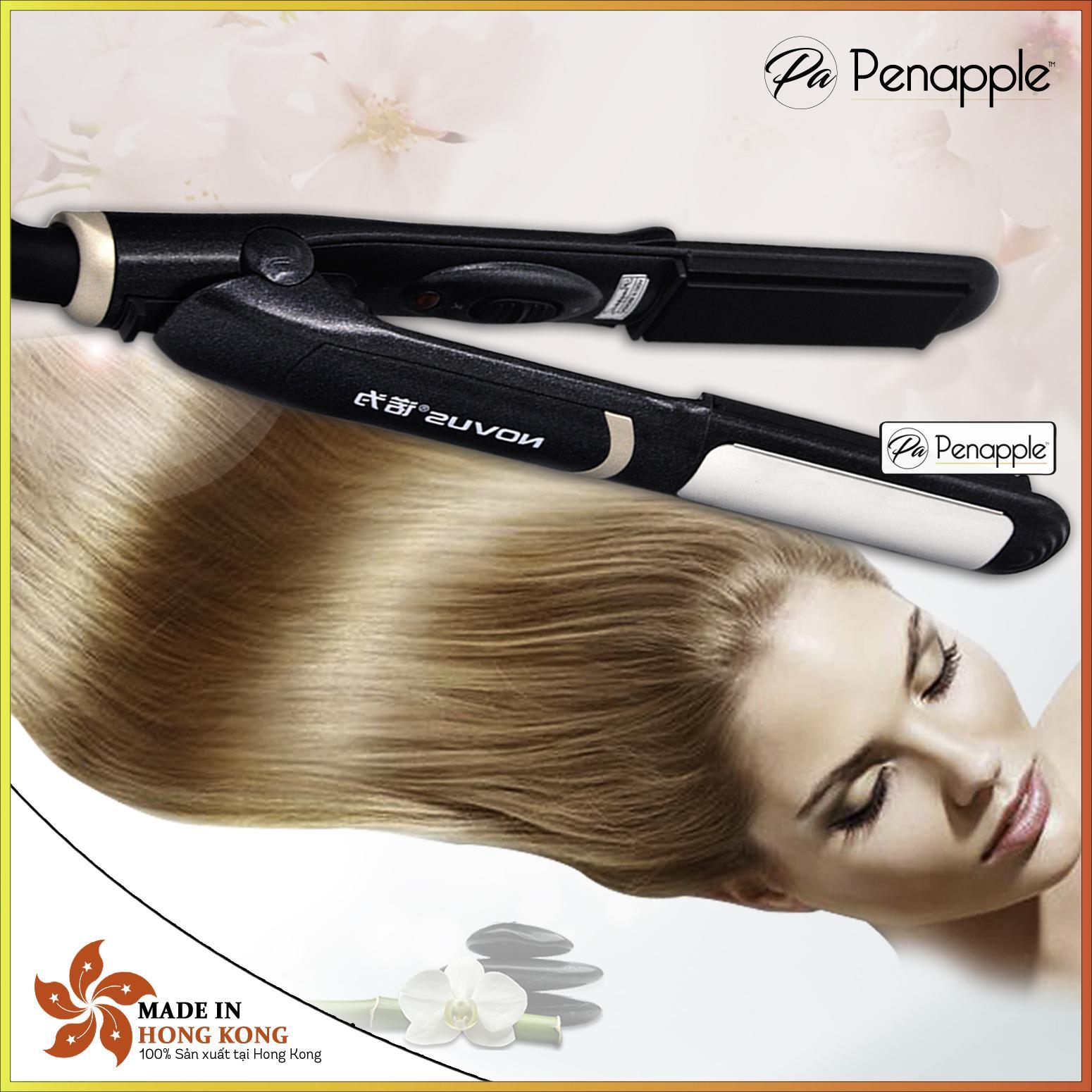 Máy uốn duỗi tóc đa dụng + Tặng (lược,kẹp tóc,miếng dán tóc) - sản xuất tại Hồng Kông nhập khẩu