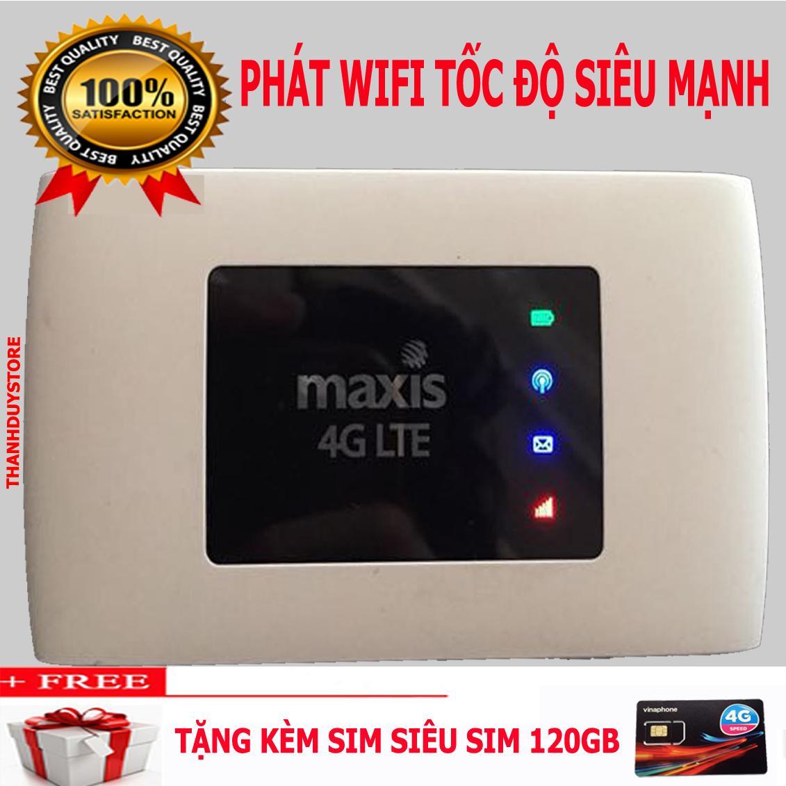 Cục phát wifi 4G tốc độ khủng Maxis MF920W hàng chuẩn Mobifone,tặng siêu sim 120GB/tháng miễn phí