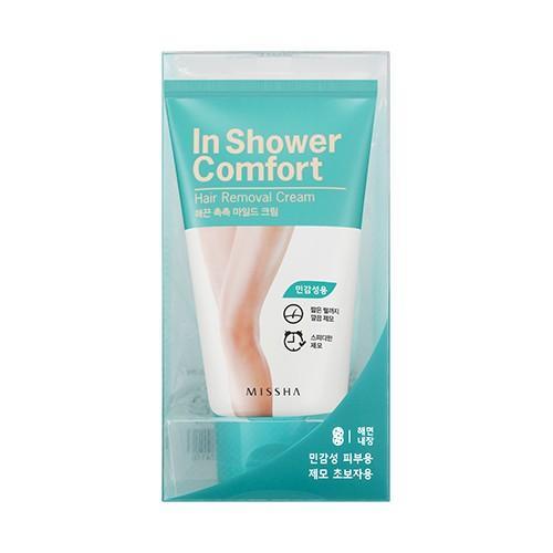 Hình ảnh Kem tẩy lông làm mềm da Missha In Shower Comfort Hair Removal Cream 100g- Xanh (Da nhạy cảm)