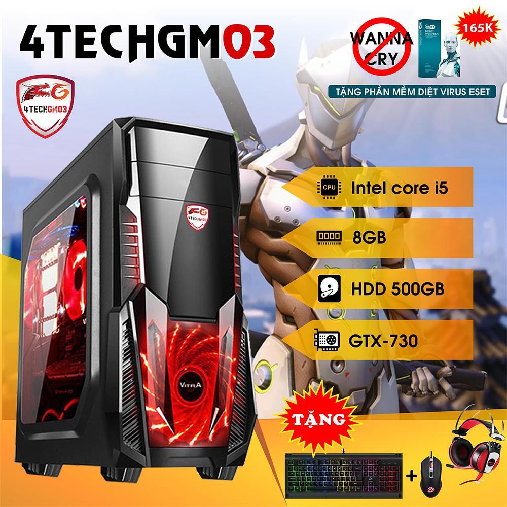 Hình ảnh Máy tính chơi Game 4TechGM03 core i5, ram 8GB, hdd 500G, vga GTX750(chuyên GTA, Overwatch) - Tặng Phím Chuột Gamers DareU & Tai Nghe Gaming 7.1 GS510.