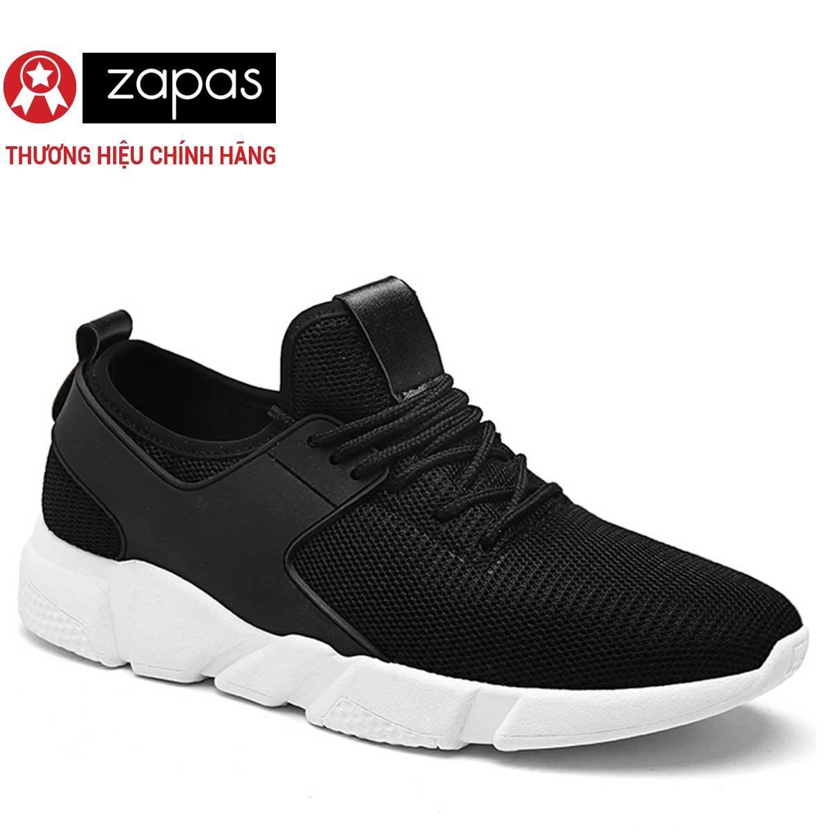 Giay Sneaker Nam Thời Trang Zapas Gs080 Đen Rẻ
