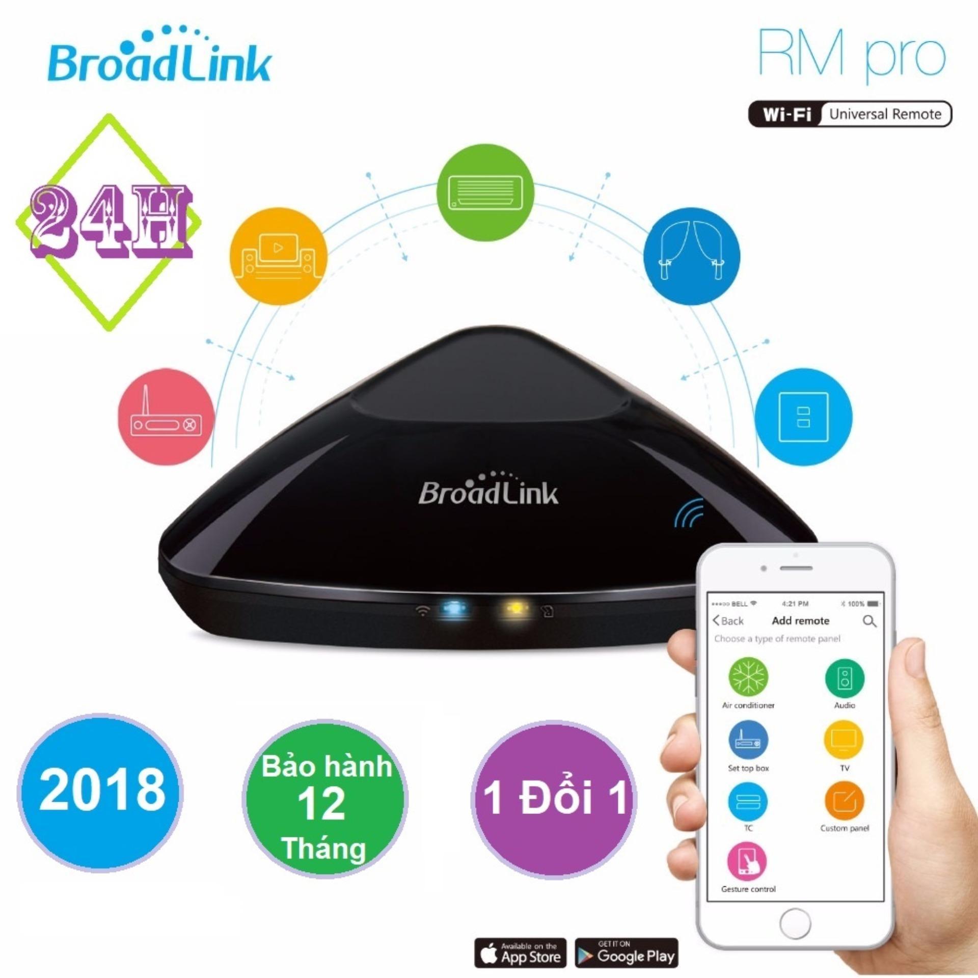 Bộ điều khiển trung tâm Broadlink RM-Pro + (Bản 2018)