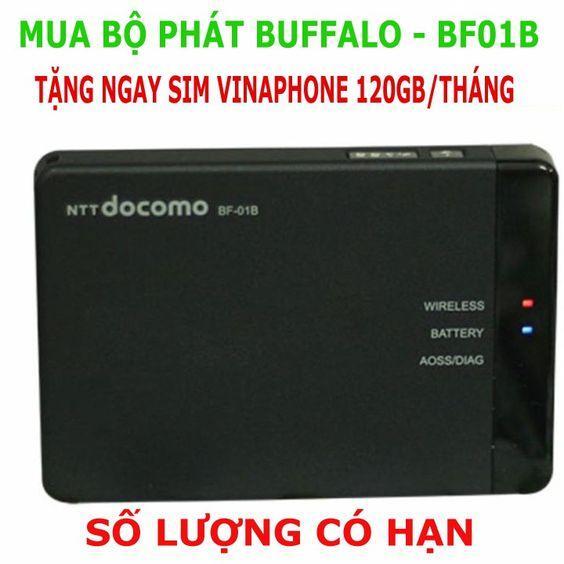 Hình ảnh Modem Phát wifi 3G/4G Docomo Buffalo BF-01B Nhập Khẩu Nhật Bản - Tặng kèm thánh sim 12GB