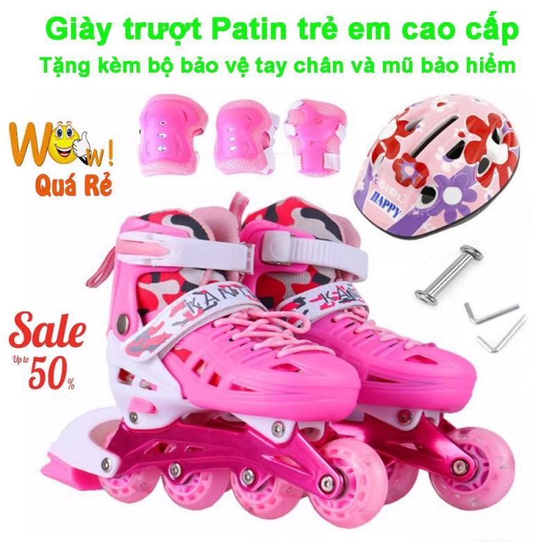 Phân phối Giày Bánh Xe, Giày Trượt Patin Trẻ Em Cao Cấp Mẫu Mới PT-154 ( Tặng Kèm Bộ Bảo Vệ Tay Chân Và Mũ Bảo Hiểm ), Shop Giày Trượt Patin Trẻ Em | Uy Tín - Giảm Siêu Sốc Đến 50%