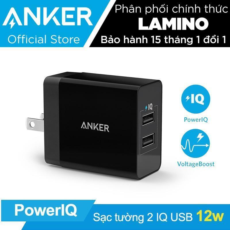 Sạc ANKER PowerPort 2 Lite 2 cổng PowerIQ 12W - Hãng phân phối chính thức