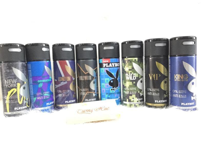 Bộ 3 Xịt Khử Mùi Toàn Thân Cho Nam PlayBoy - 150ml x 3 ( MÙI NGẪU NHIÊN ) tốt nhất