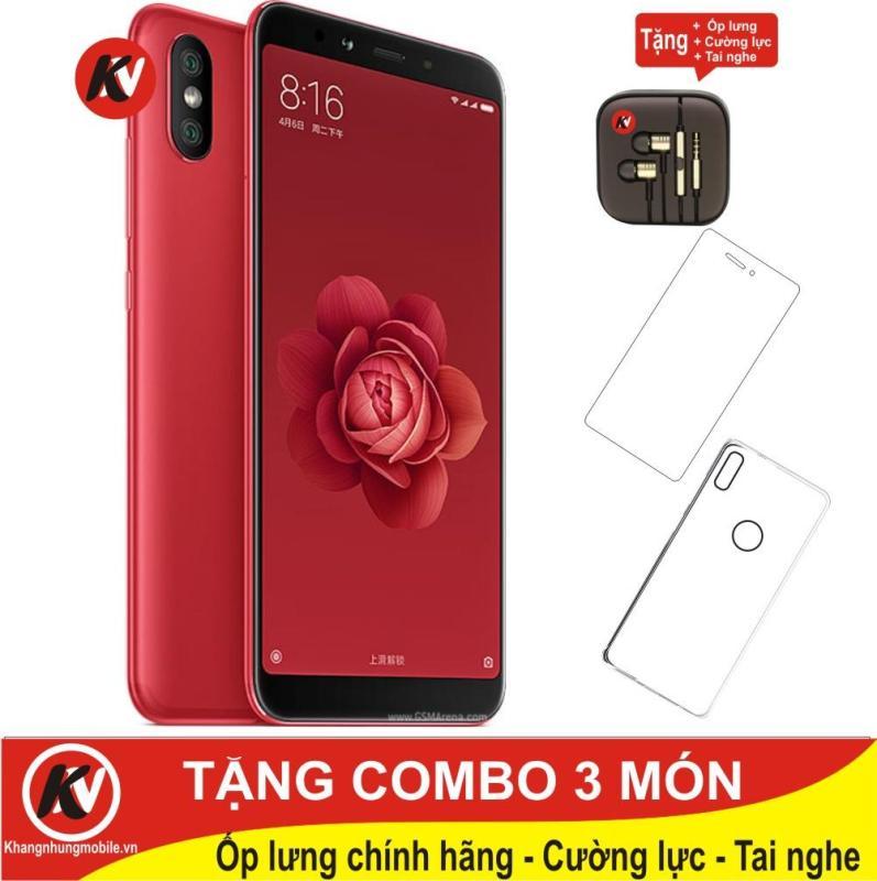 Xiaomi Mi 6X 64GB Ram 4GB Kim Nhung (Đỏ) - Hàng nhập khẩu + Ốp lưng + Cường lực + Tai nghe