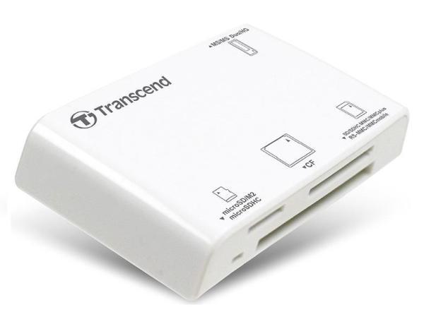 Đầu đọc thẻ nhớ All in1 Multi-Card Reader - P8W Transcend -Trắng