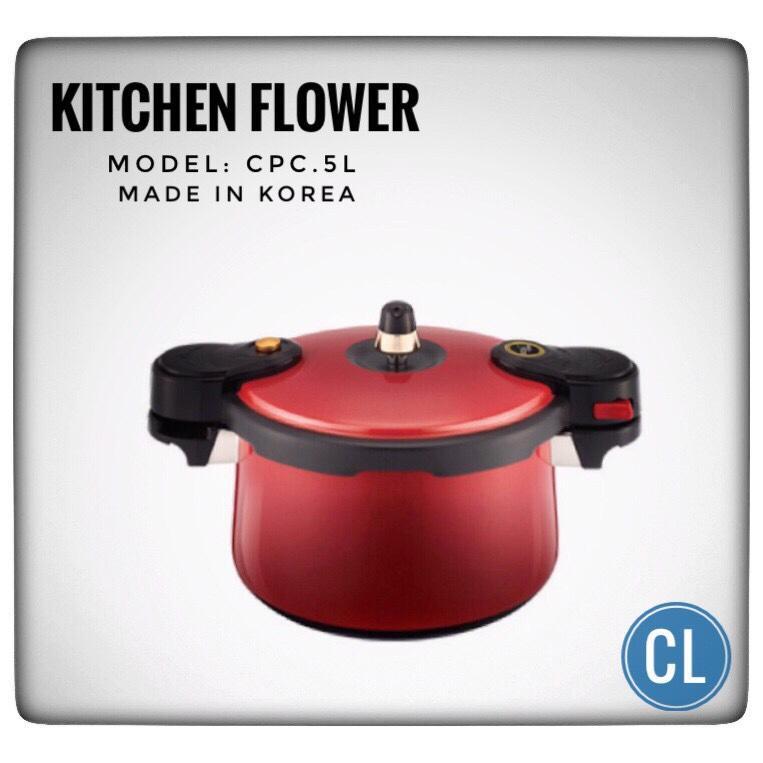 Hình ảnh Nồi áp suất hợp kim nhôm Hàn Quốc Kitchen Flower 5L Model CPC 500