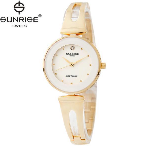 Đồng hồ nữ dây kim loại mặt kính sapphire chống xước Sunrise SL9935LK