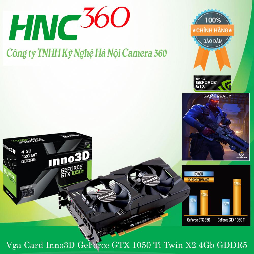 Vga Card Inno3D GeForce GTX 1050 Ti Twin X2 4Gb GDDR5 Siêu Giảm Giá