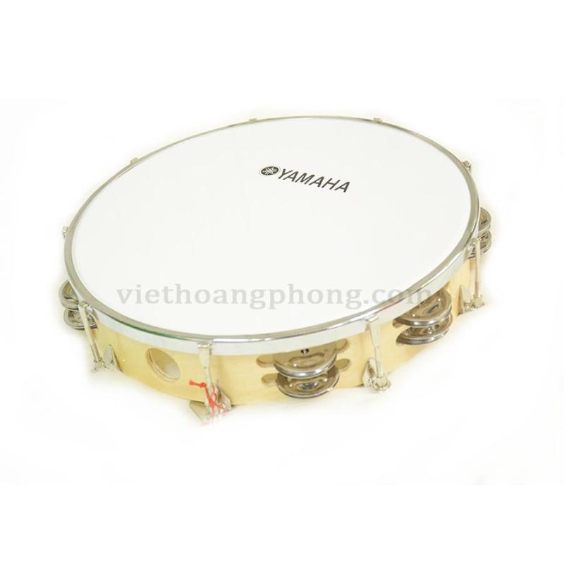 Trống lắc tay - trống gõ bo - Tambourine Yamaha Vành Gỗ - HappyLive Shop