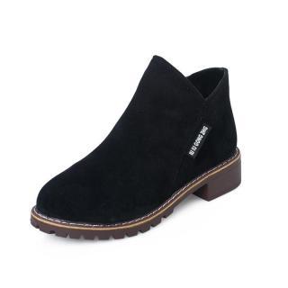 Giày boot nữ cổ thấp đế cao Hàn Quốc Lidus HH2811 (Màu Nâu & Màu Đen) thumbnail