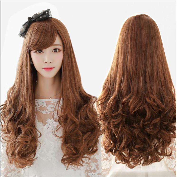 Tóc giả nữ Hàn Quốc loại 1 có da đầu + tặng Lưới trùm tóc - TG1875 ( MÀU NÂU TỐI - TRONG HÌNH LÀ NÂU SÁNG )