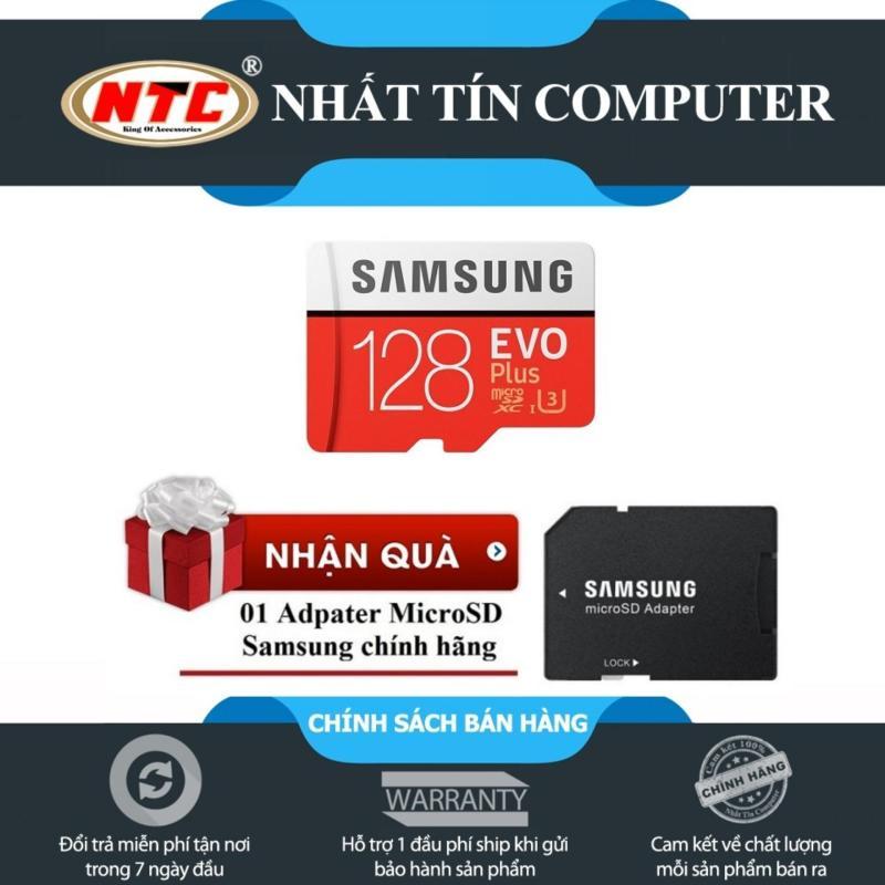 Thẻ nhớ MicroSDXC Samsung EVO Plus 128GB 100MB/s - U3 hỗ trợ 4K (Đỏ) +Tặng 1 adapter chuyển từ thẻ nhớ microSD sang SD