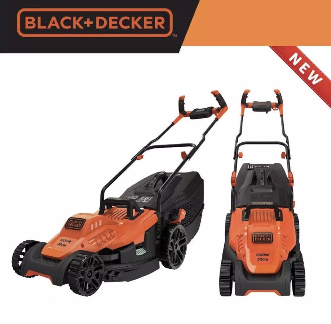 1600W Máy cắt cỏ xe đẩy 38cm Black+Decker BEMW471BH-B1 (thay thế cho EMAX38)