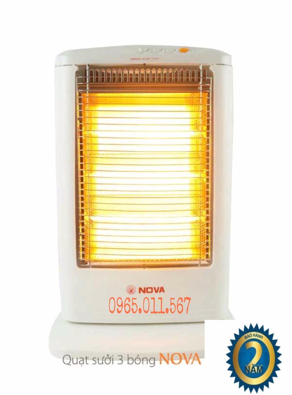 Quạt sưởi Đèn sưởi 3 Bóng Nova FG12A 1200W Bảo Hành 24 Tháng